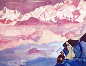 «She Who Leads» by Nicholas Roerich, 1924
